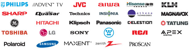 tv brands that we service